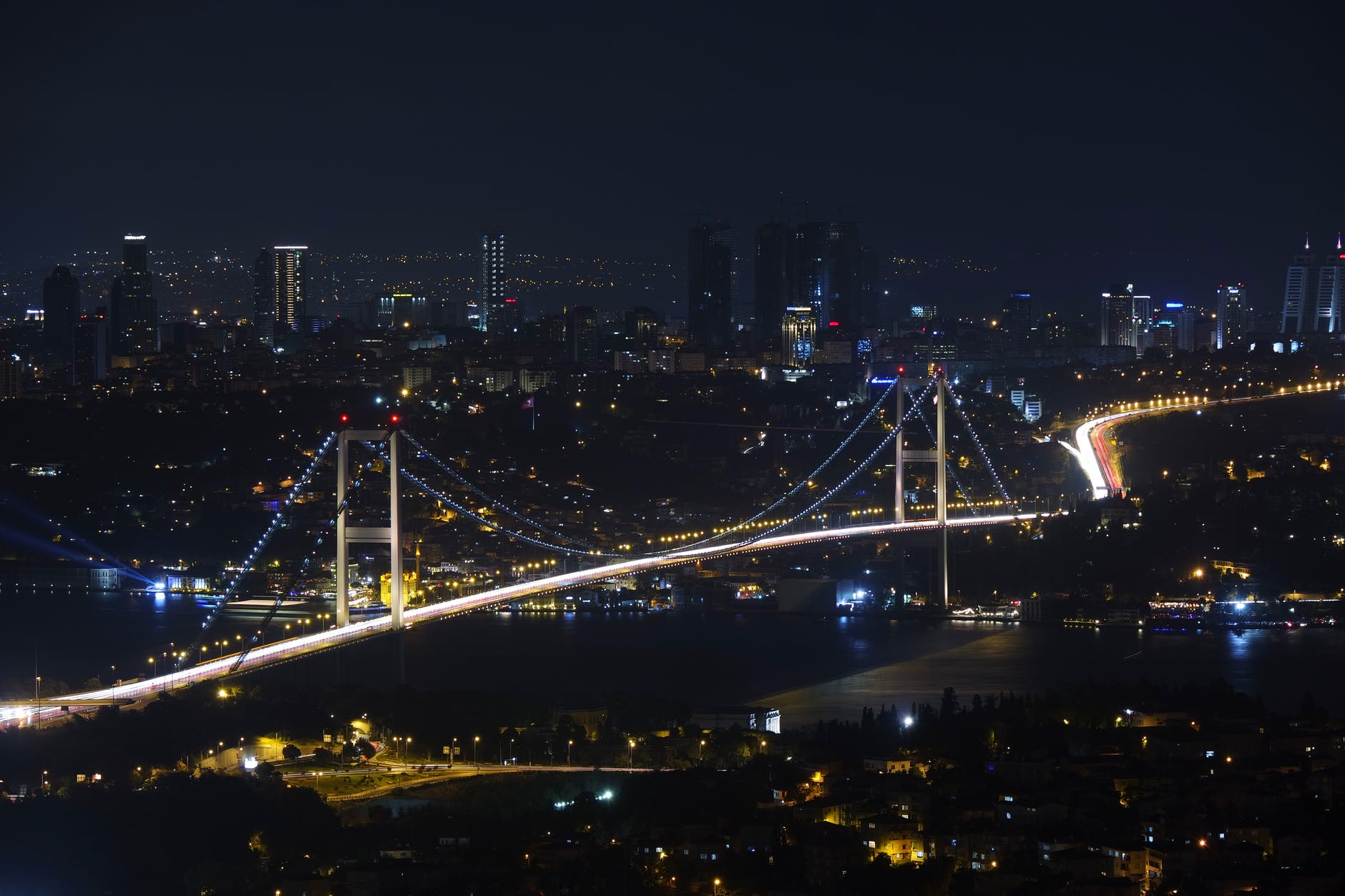 city bridge cityscape istanbul